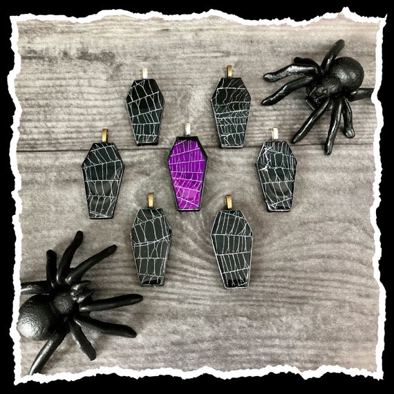 Coffin Jewelry, Real Spider Web, Spider Web Jewelry, Spider Web Necklace, Macabre Jewelry, Witchy Jewelry, Gothic Jewelry