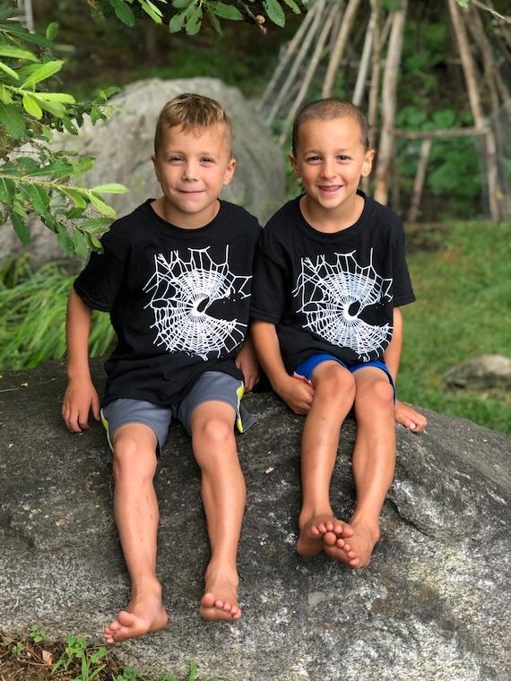 MoonWeb T-Shirt, Gothic T-Shirt, Black Shirt, Childrens Tees, Witchy T-Shirt, Childs Halloween Shirt