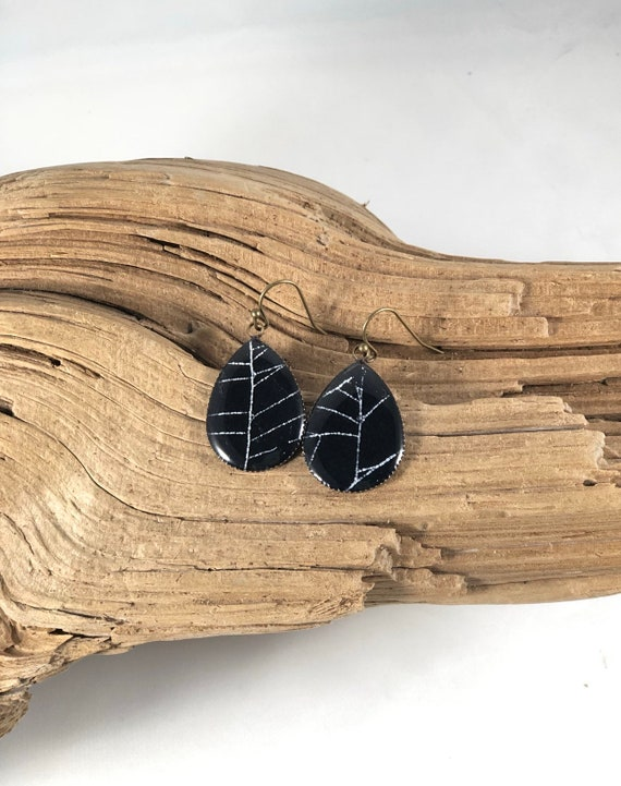 Spider Web Earrings, Spider Web Jewelry, Real Spider Web Jewelry, Real Spider Web, Preserved Spider Web