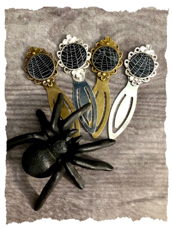 Real Spider Web Bookmark, Preserved Spider Web, Letter Opener, Stationary