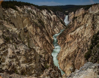 LOWER FALLS Yellowstone National Park, WYOMING. 2020 photograph by Nathaniel Shannon