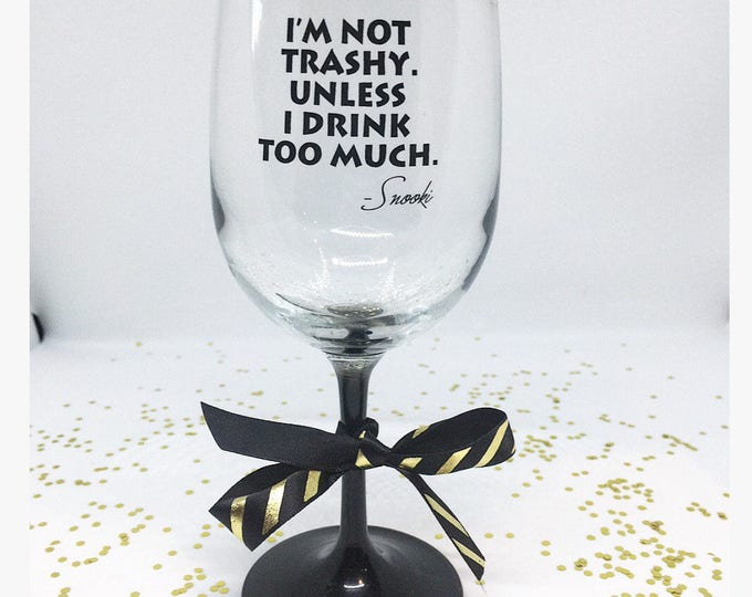 Snooki Wine Glass Funny Wine Glass