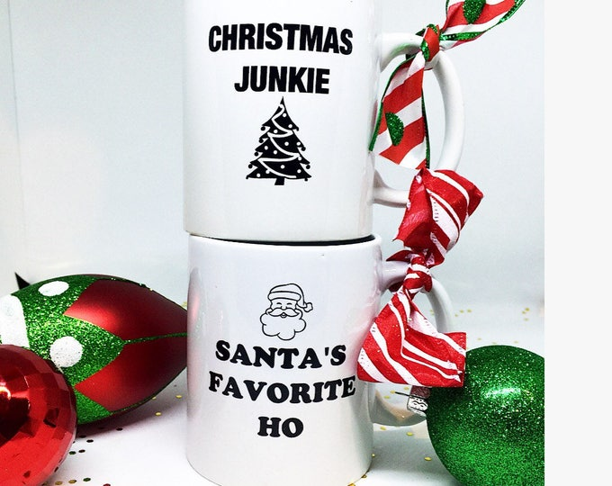 Christmas Mugs Funny Christmas Mugs Santas Favorite Ho Christmas Junkie