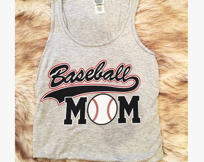 Baseball Mom Shirt Baseball Mom Tank