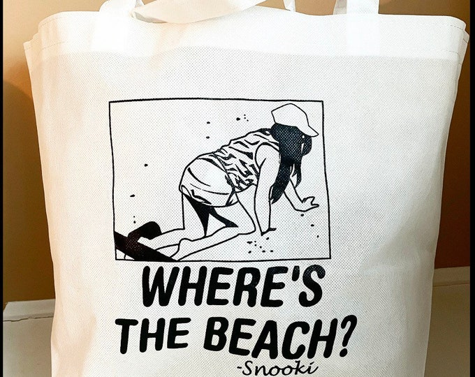 Snooki Tote Bag Where's the Beach Bag