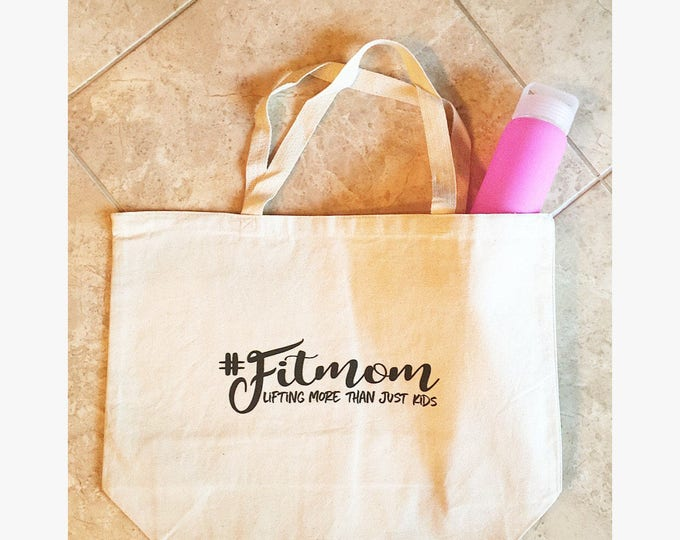 Fit Mom Tote Bag Fit Mom Gym Bag Graphic Tote Bag