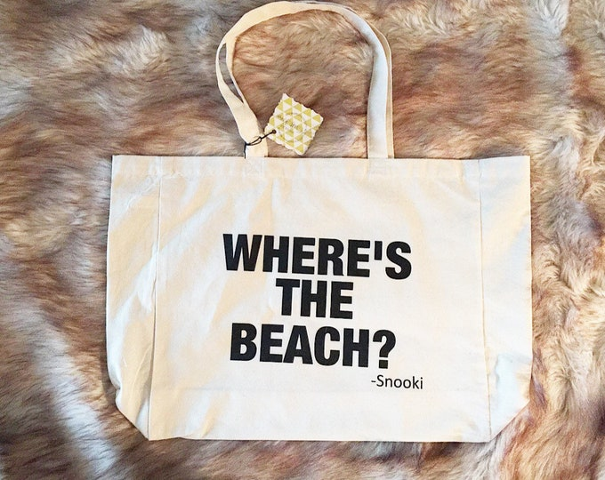 Snooki Tote Bag Jersey Shore Wheres The Beach Bag