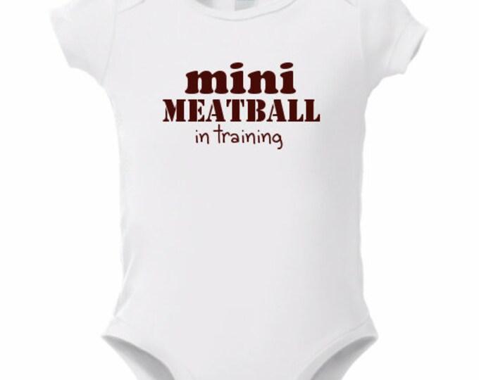 Meatball Baby Onsie Jersey Shore Baby Onesies
