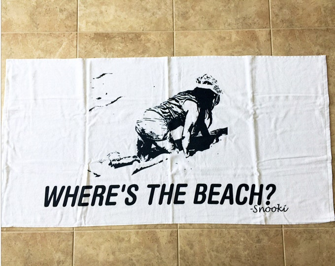 Snooki Beach Towel Wheres The Beach