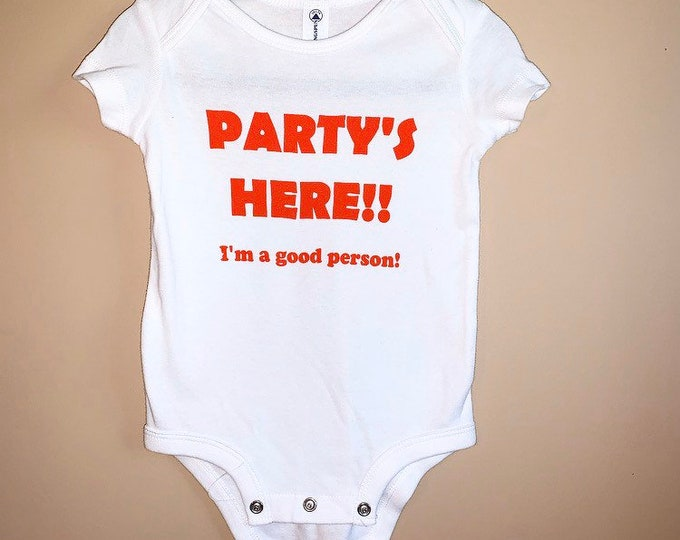 Baby Onesie Snooki Onesie Party's Here