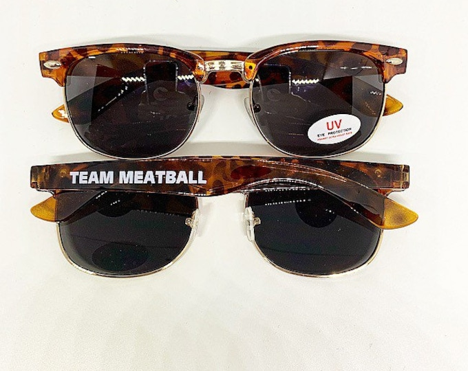 Team Meatball Sunglasses Leopard Sunglasses Snooki Glasses