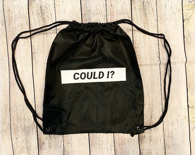 Could I Drawstring Bag
