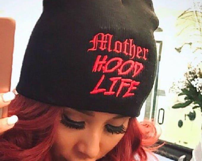Mother Hood Life Beanie Mom Beanie Mom Life