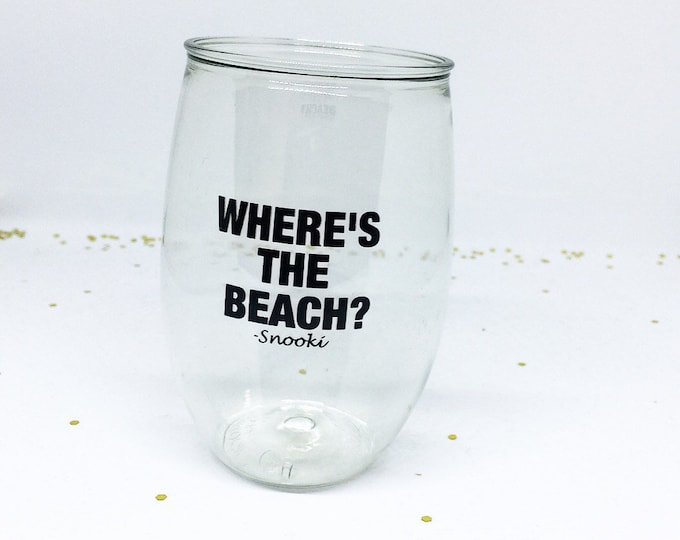 Snooki Wine Glass Jersey Shore Wine Glass Wheres the Beach
