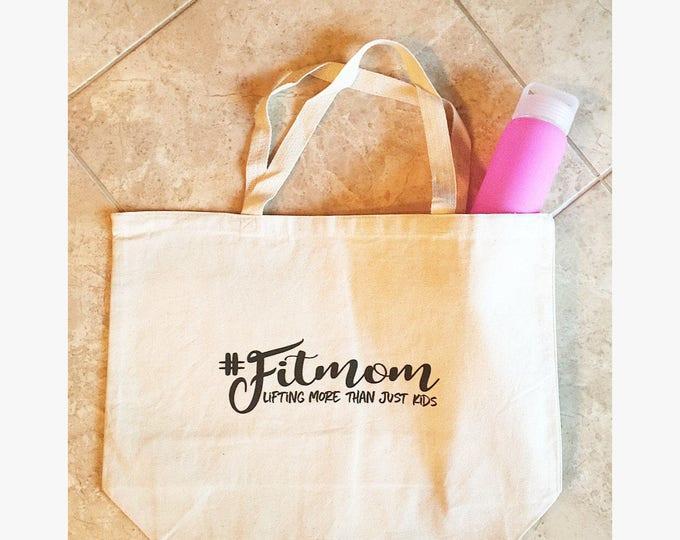 Fit Mom Tote Bag Fit Mom Gym Bag Graphic Tote Bag