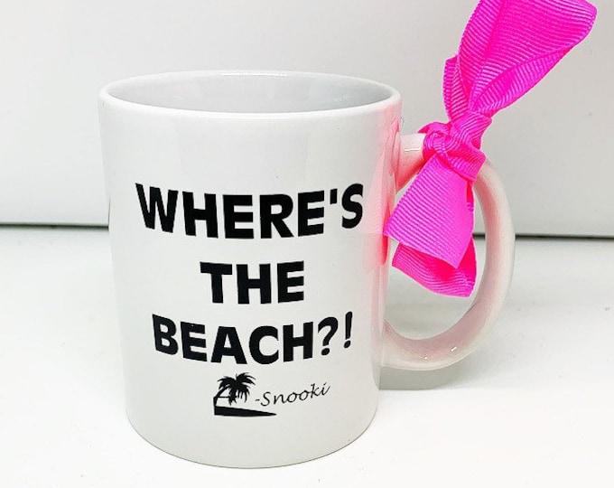 Snooki Mug Where's the Beach Jersey Shore Mug