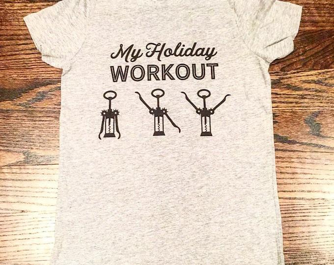 Funny Holiday Tee Wine Shirt