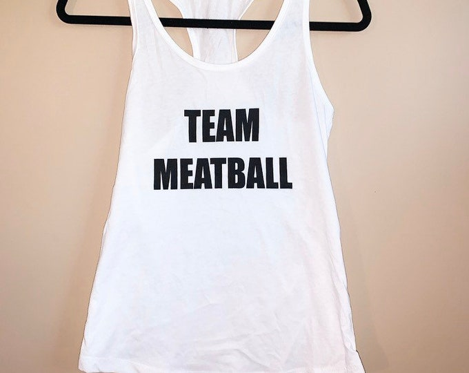 Team Meatball Tank Top Snooki Shirt Jersey Shore Shirt