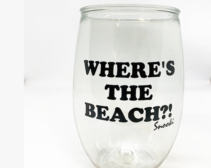 Snooki Wine Glass Jersey Shore Wine Glass Wheres the Beach
