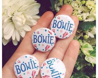 David Bowie Blue Logo 25mm Button Badge