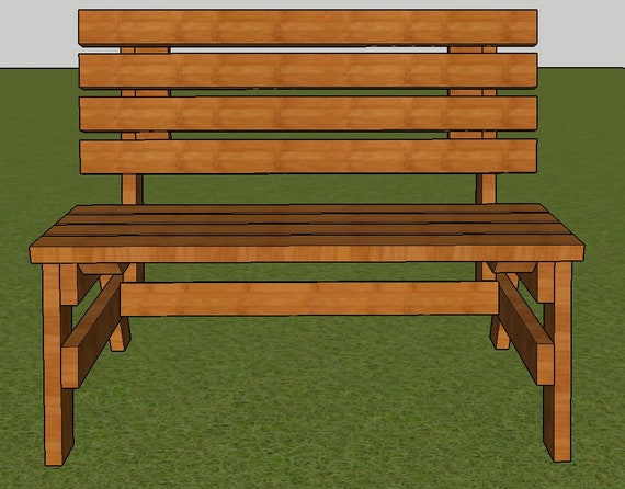 Super Park Bench Plans 4Ft Long 2X4 Wood Construction Diy Fast Easy To Build Step By Step Creativecarmelina Interior Chair Design Creativecarmelinacom