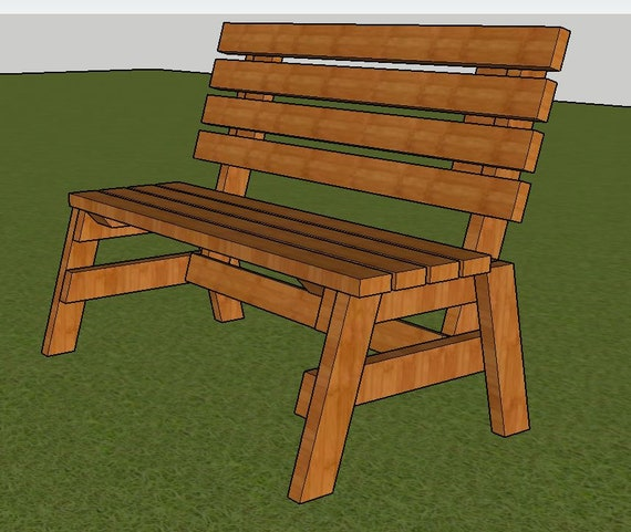 Magnificent Park Bench Plans 4Ft Long 2X4 Wood Construction Diy Fast Easy To Build Step By Step Forskolin Free Trial Chair Design Images Forskolin Free Trialorg