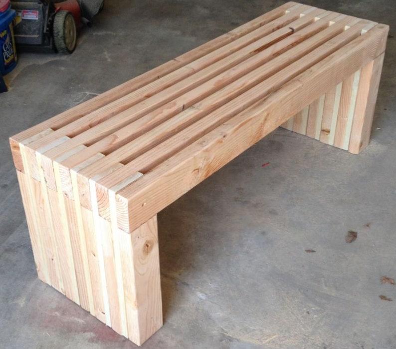 Plans For 72 Long Park Bench Diy 2x4 Wood Design Patio Etsy
