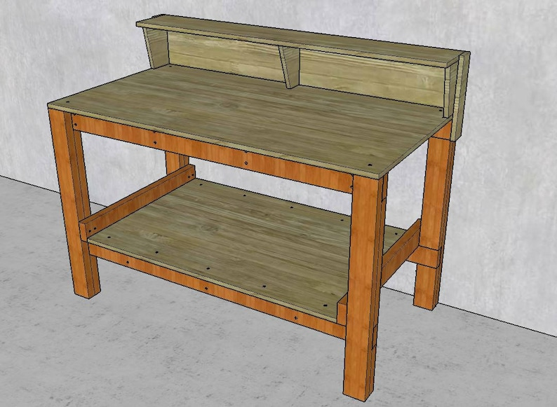 Brilliant Plans For Workbench With Shelf Diy Fast And Easy To Build Plywood And 2X4 Wood Construction Caraccident5 Cool Chair Designs And Ideas Caraccident5Info