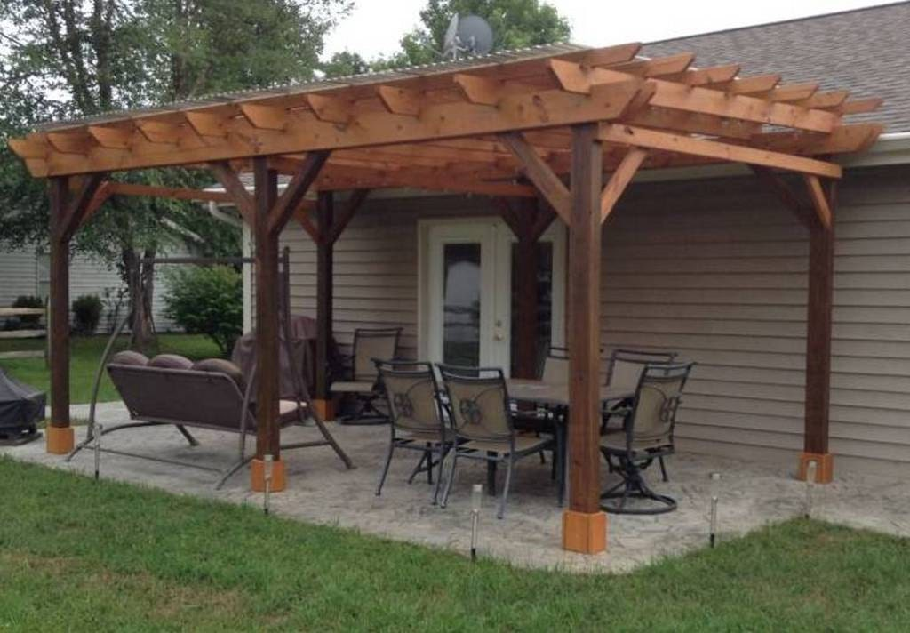 - Covered Pergola Plans 12x24' Outside Patio Wood Design Etsy