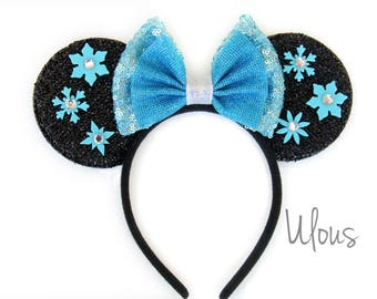 Frozen Elsa Ears, Elsa Mickey Ears, Frozen Mickey Ears, Frozen Ears, Elsa Ears, Custom Mickey Ears, Elsa Ears, Mickey Ears, Frozen, Ears