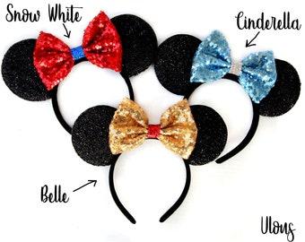 Mickey Ears, Minnie Ears, Mouse Ears, Princess Mickey Ears, Princess Ears, Mickey Mouse Ears, Sparkly Mickey Ears, Princess, Ears, Minnie