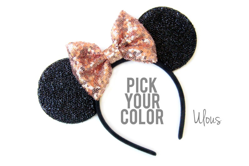 Gold Mickey Ears Sparkly Mickey Ears Rose Gold Minnie Ears image 0