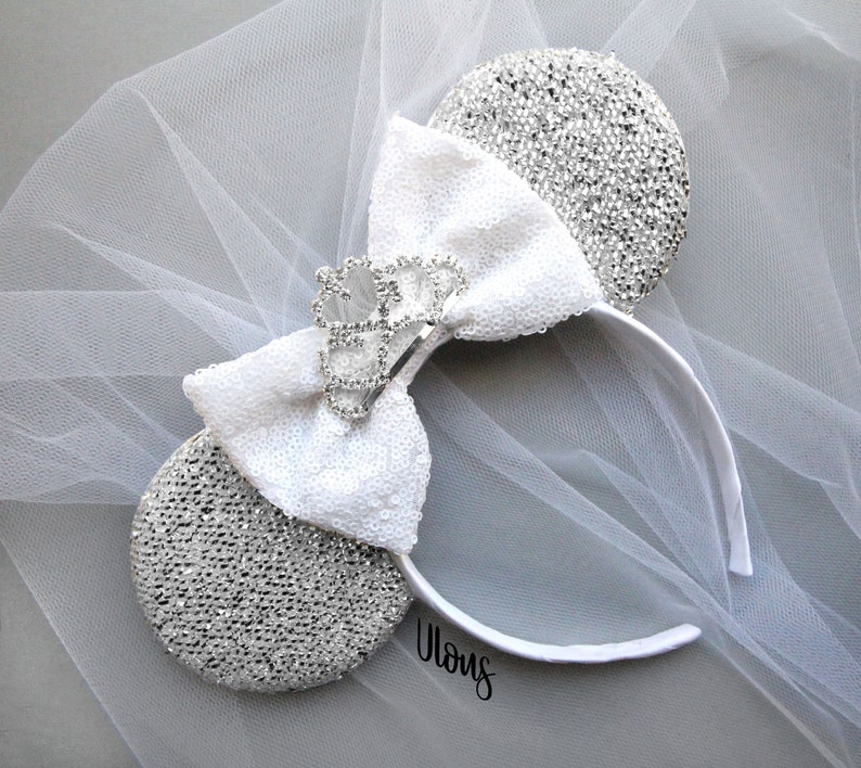 15ba1e74b Wedding Mickey Ears Wedding Minnie Ears Bride Mickey Ears