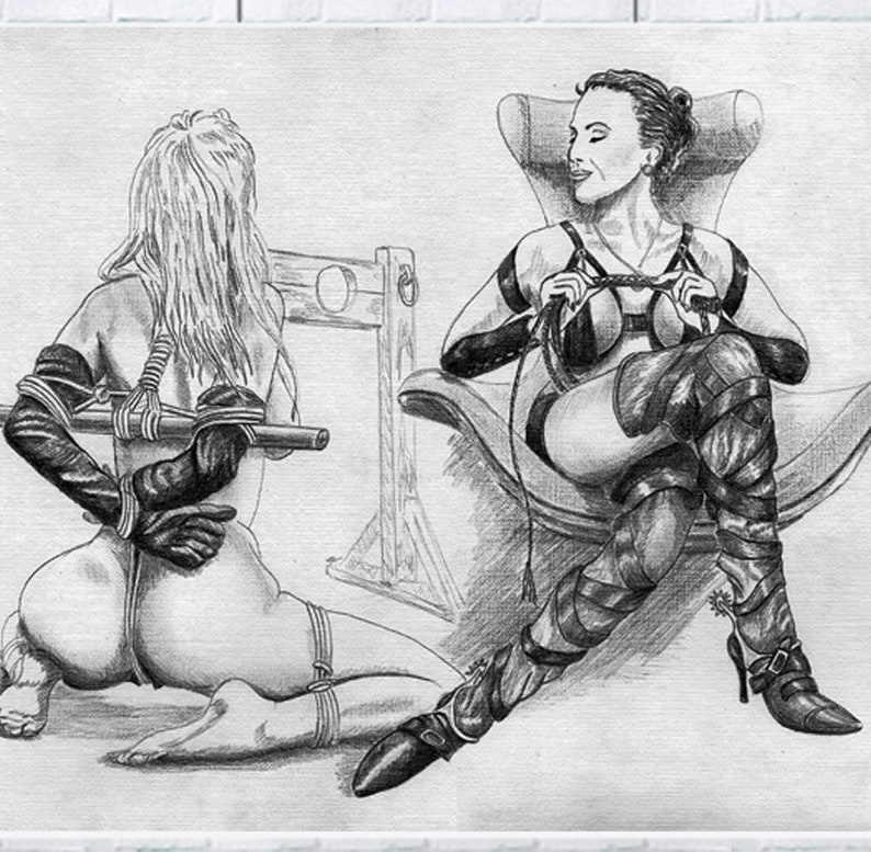 Bdsm nude drawings