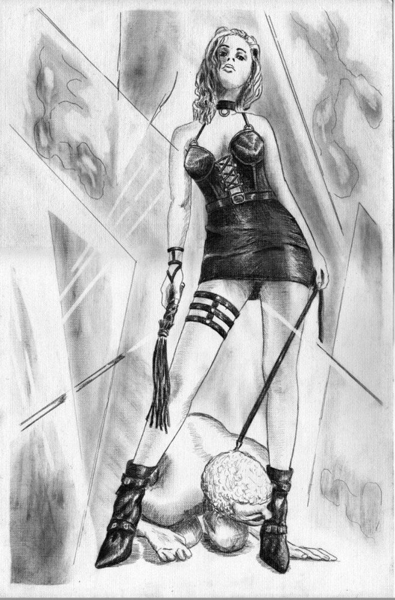 Dominasjon Erotisk Kunst