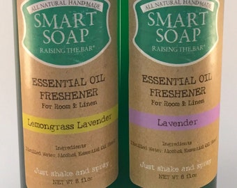 Essential Oil Room Freshener  8 oz : Lemongrass Lavender, Eucalyptus, Lavender