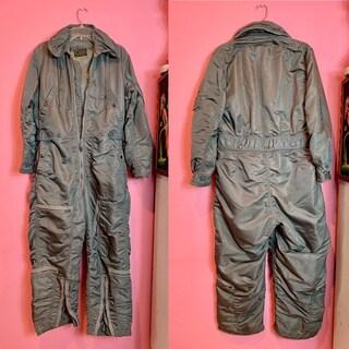 Vintage 1960s Jumpsuit \u2022 US Air Force Flight Suit Coveralls \u2022 Medium Regular