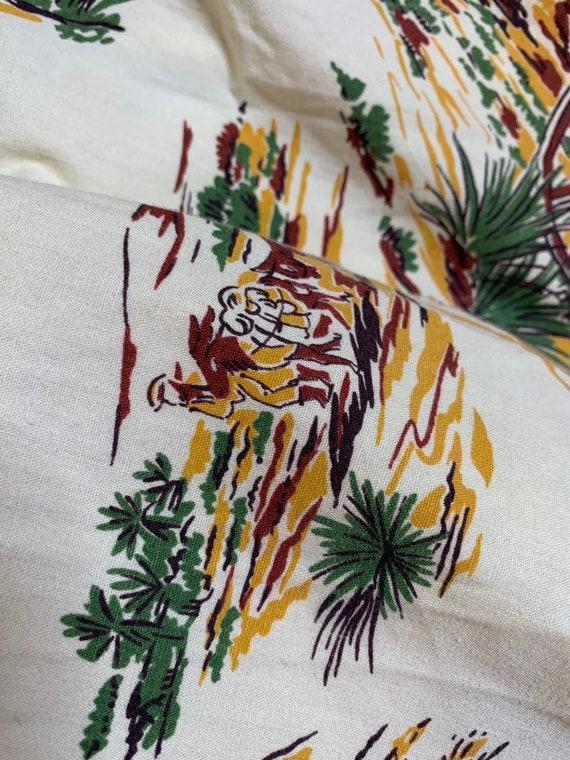 Vintage 1950s Skirt • Western Novelty Print Skirt… - image 6