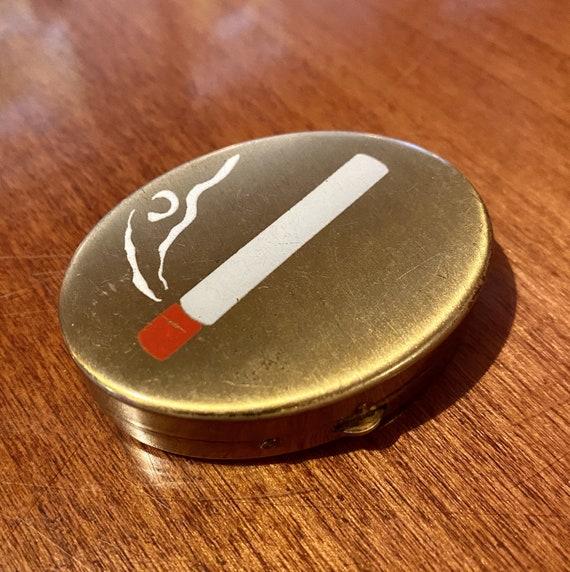 Vintage 30s 40s Ashtray • Hand Painted Cigarette P
