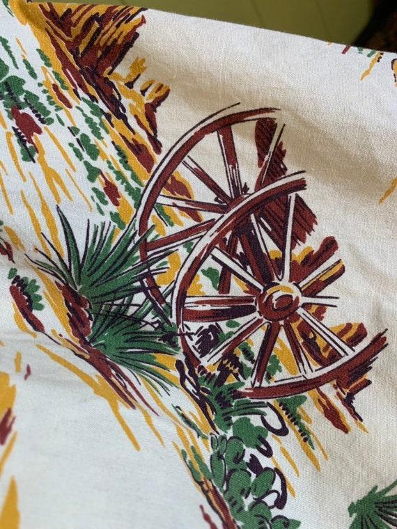Vintage 1950s Skirt • Western Novelty Print Skirt… - image 5