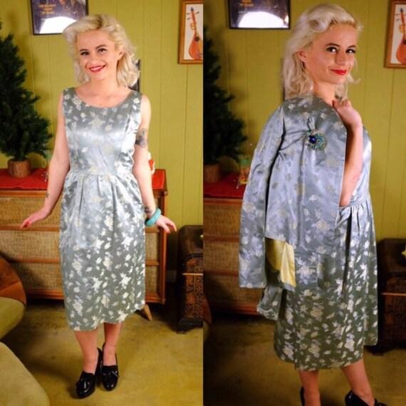 Vintage 1960s Dress & Jacket Set • Matching Wiggle