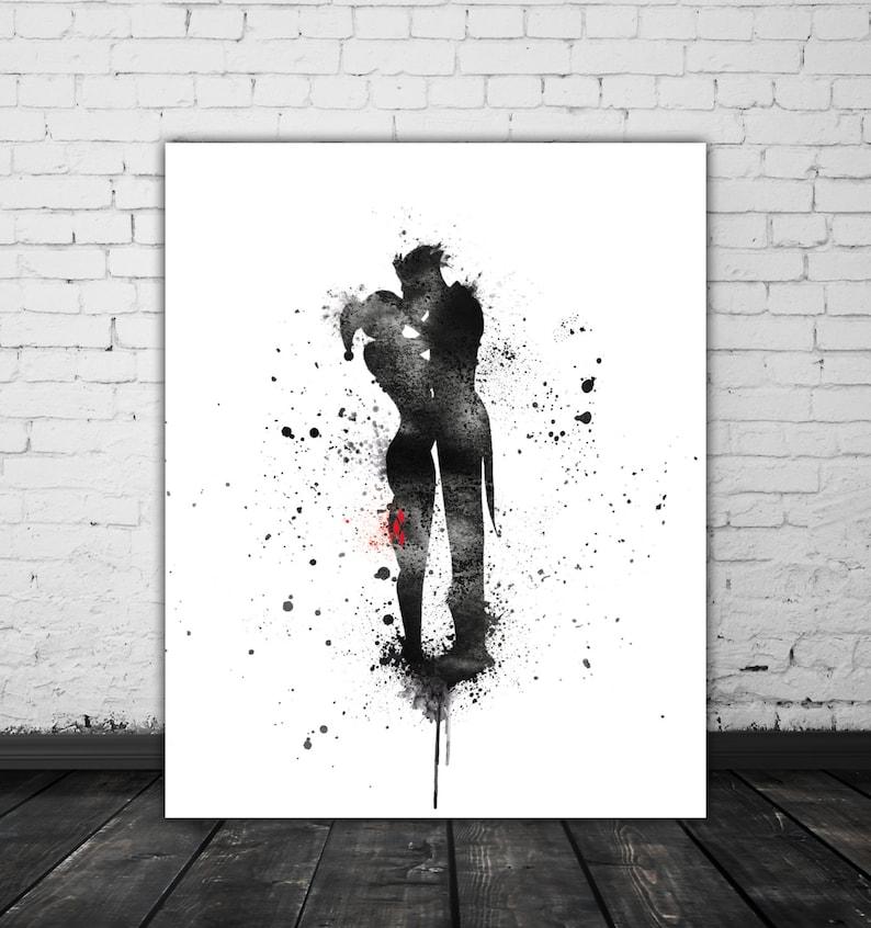 size 40 bc052 df119 Harley And Joker Gift Harley Quinn Art Mad Love Art Movie   Etsy