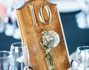 Doorknob and keyhole Table Numbers (Set of 14)