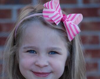 Pink Headband - Bow Headband - Pink Bow Headband - Toddler Headband - Hard headband - Pink Bow headband - Girls Headband - Headband - Bow