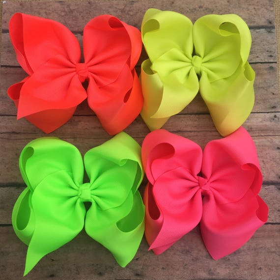 Hair Bows Any Colour JoJo Large Double Satin Octopus Hair Bows Boutique