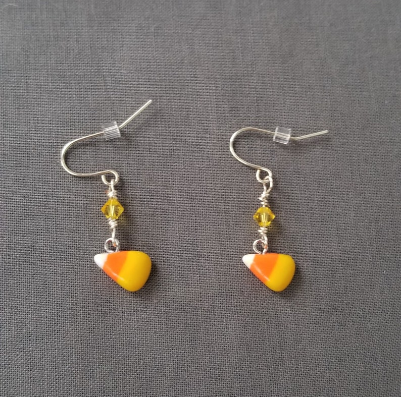 1d42d9281 Candy Corn Earrings Halloween Earrings Polymer Clay Dangle | Etsy