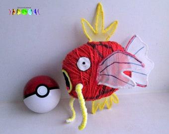 Magikarp Toy Fish Pokemon Go Yarn Figures Plushies Gift Ideas Handmade Gamer Gifts Room Decor Children Anime Cartoon Cool Fun Action Figures