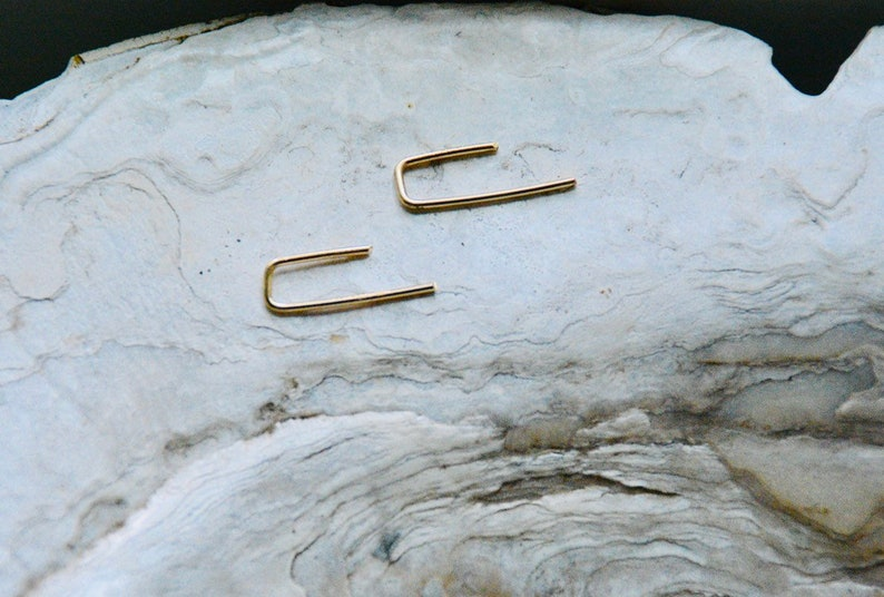 Minimal Earrings Minimalist Jewelry Reversable 14k Gold Filled Ear Climbers Sterling Silver 14k Rose Gold Filled