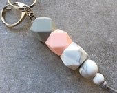 Silicone Beaded Keyring (...