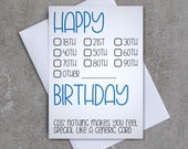 Nothing makes you feel special like a generic card - Greeting card - Birthday - Sassy/Funny